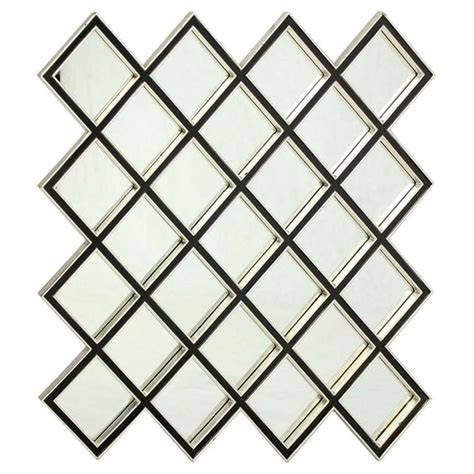 large square wall mirror large square 25 mirror quot tiles quot style wood framed mirror at