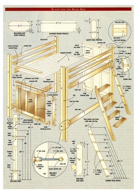 free woodworking plans for beds woodwork free woodworking plans for bunk beds pdf plans