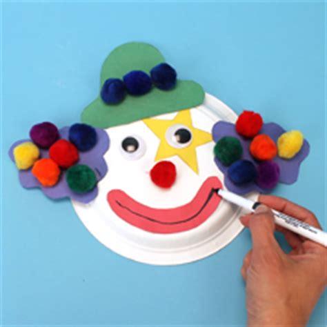 clown paper plate craft paper plate clown craft project ideas