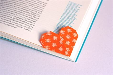 Shaped Page Marker Origami How About Orange