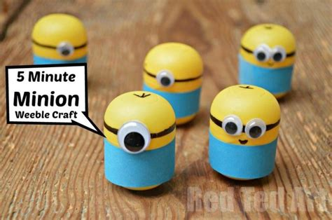 fast easy crafts minion craft ideas weebles a 5 minute craft