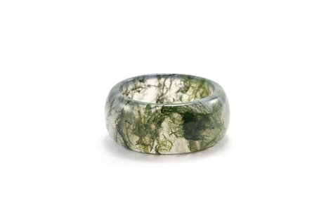 moss agate moss agate ring green moss ring nature rings moss green