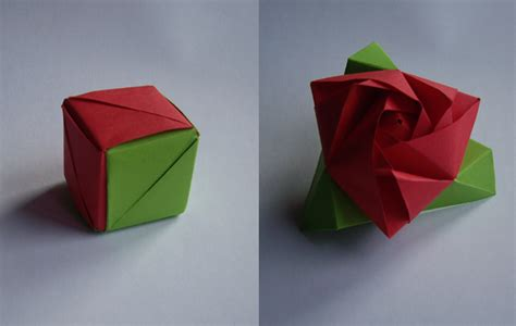 origami flower cube magic cube by neferush on deviantart