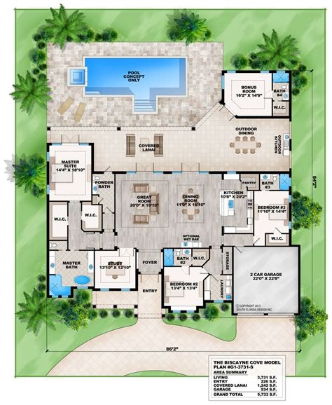 pool house plans with bedroom best 25 house plans with pool ideas on one
