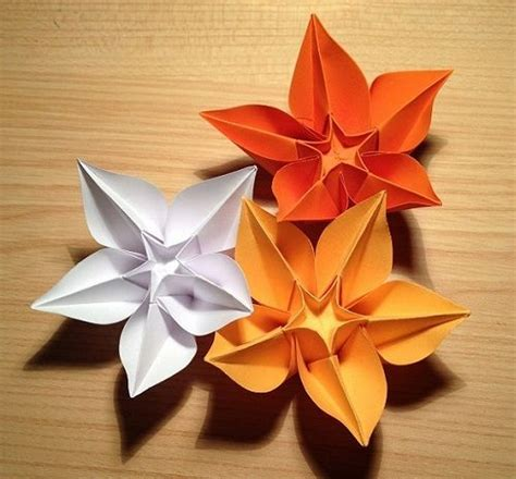 single sheet origami flower make diy origami flowers from a single sheet of paper