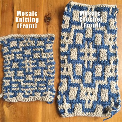 knitting versus crocheting mosaic knitting vs mosaic crochet clearlyhelena