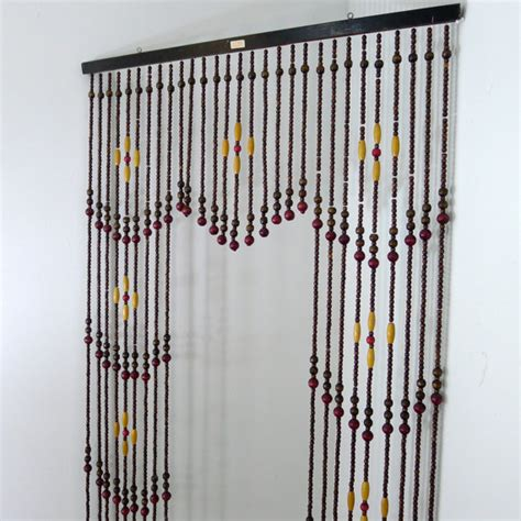 hanging beaded curtains vintage wooden bead curtain beaded curtain room divider