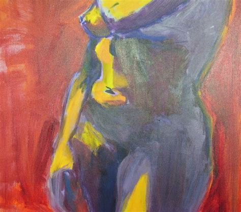 acrylic painting human figure with background acrylic on canvas in the