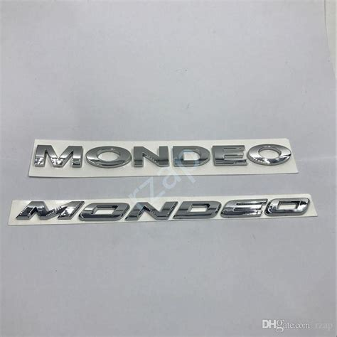 3 Letters Car Name by 2017 For Ford Mondeo 3d Letters Silver Sticker Car