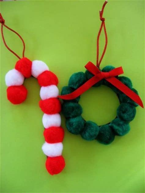 ornament craft for pom pom ornaments family crafts