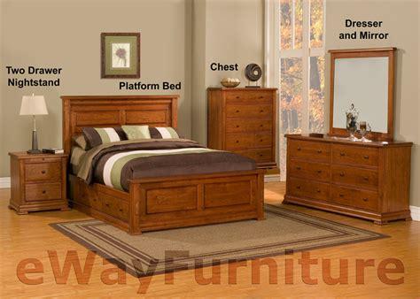 cherry bedroom furniture set traditional solid cherry platform storage bedroom set