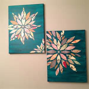acrylic paint on canvas paper wall made from canvas acrylic paint and scrap paper