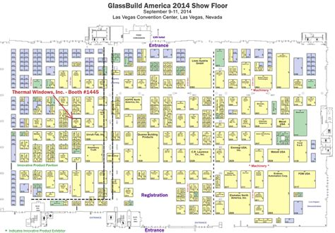 las vegas convention center floor plan glassbuild america 2014 thermal windows inc