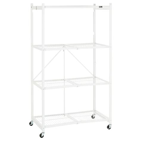 origami rack origami 4 shelf folding rack the container store