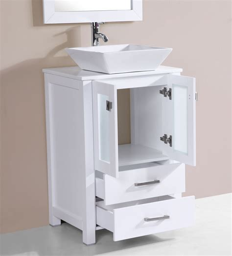24 bathroom vanity with sink 24 quot newport white single modern bathroom vanity with