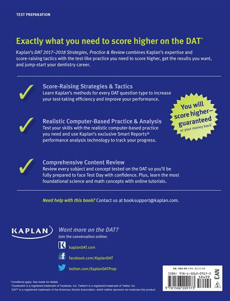 dat 2017 2018 strategies practice review with 2 practice tests book kaplan test prep dat 2017 2018 strategies practice review with 2