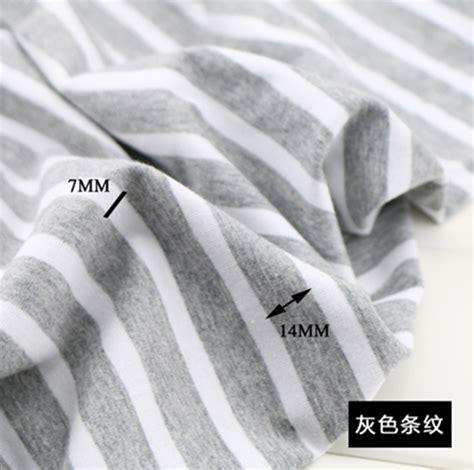 sewing cotton knit fabric 100 170cm stretch cotton fabric lycra striped cotton knit