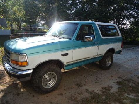 95 Ford Bronco by Purchase Used 95 Ford Bronco 4x4 Xlt Low In Pauline