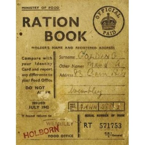 pictures of ration books 1940s ration jar