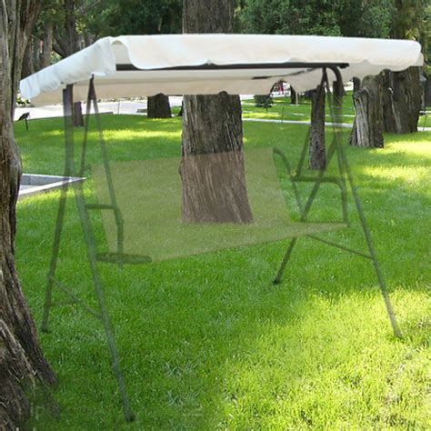 outdoor replacement swing canopy 77x43 seat top cover