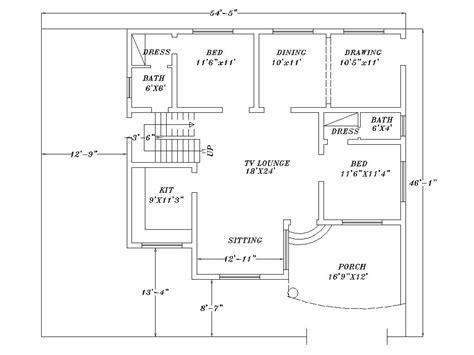 home design 2d plan architect plan home design