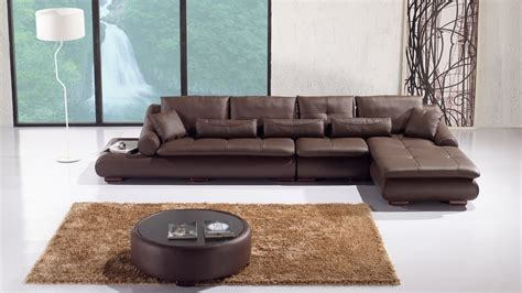 canape angle design cuir iris chocolat mobilier cuir