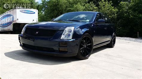 sts custom wheel offset 2006 cadillac sts nearly flush stock custom rims