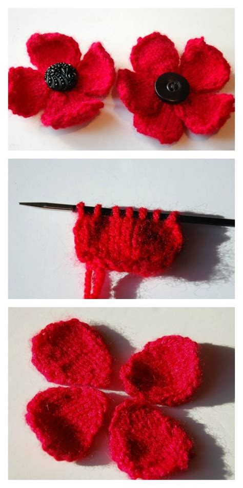 how to knit a poppy flower 25 best ideas about knitted poppies on