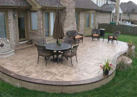 back patio design ideas sted concrete patio designs patios pool decks