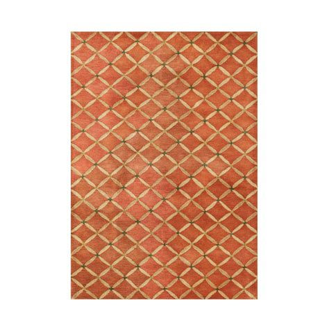 area rugs home depot 5x8 orange rust 5 ft x 8 ft area rug ay271 5x8 the home depot