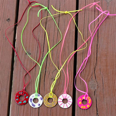 necklace crafts for washer necklace family crafts