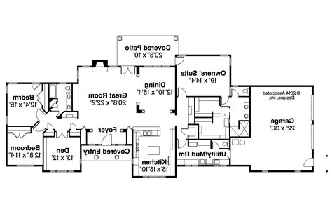 ranch home floor plans ranch house plans parkdale 30 684 associated designs