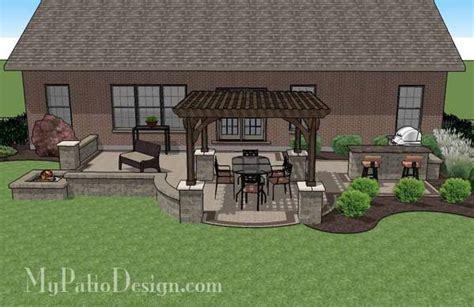 brick patio designs with pit creative brick patio design with pergola pit bar