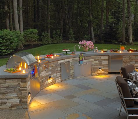 outdoor kitchen lights northern lights landscape contractor inc landscaping in