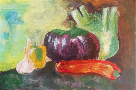 acrylic painting vegetables laurent coulloud vegetables acrylic painting holidays