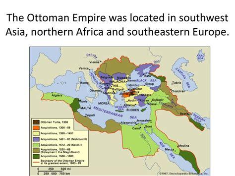 ottoman empire located ppt muslim empires around 1500