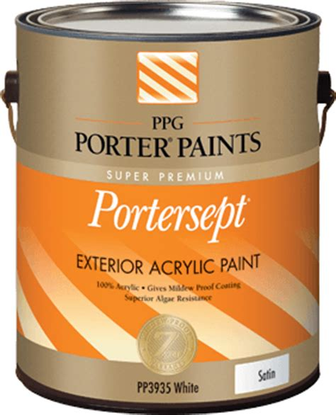 acrylic paint cleanup portersept 174 exterior acrylic paint from ppg porter paints 174