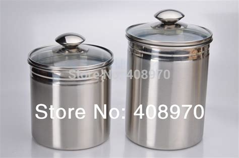 stainless steel kitchen canisters 304 stainless steel 2 kitchen canister set