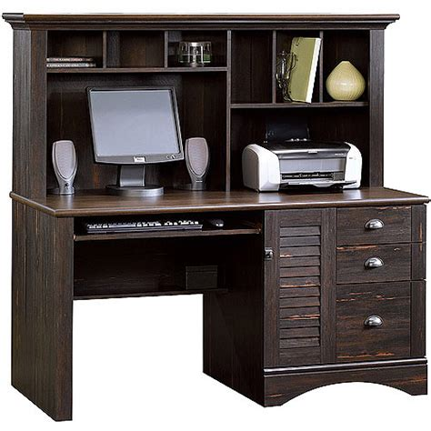 sauder harbor view computer desk with hutch antiqued white sauder harbor view computer desk with hutch antiqued