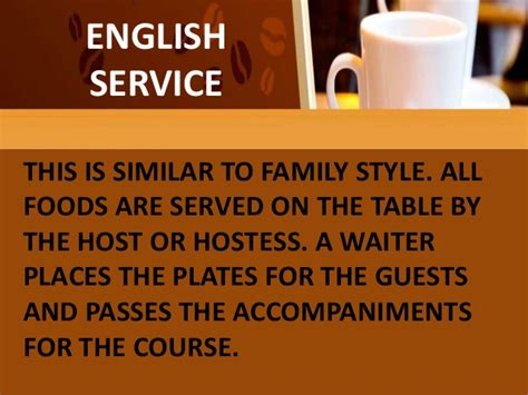 table service definition types of table service