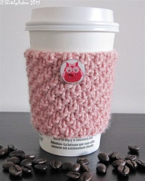 knitted coffee cup cozy pattern knit cup cozy knitting cup cozy