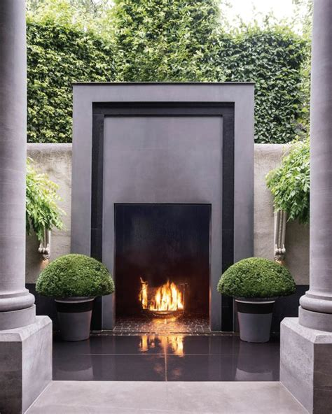 outdoor fireplace on trend outdoor fireplaces akin design studio