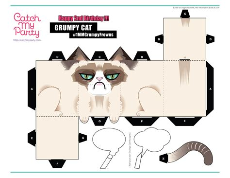 cat paper craft papercraft cat pictures to pin on pinsdaddy