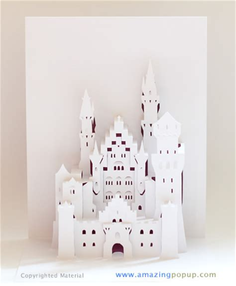 how to make a card castle neuschwanstein castle popup card www amazingpopup