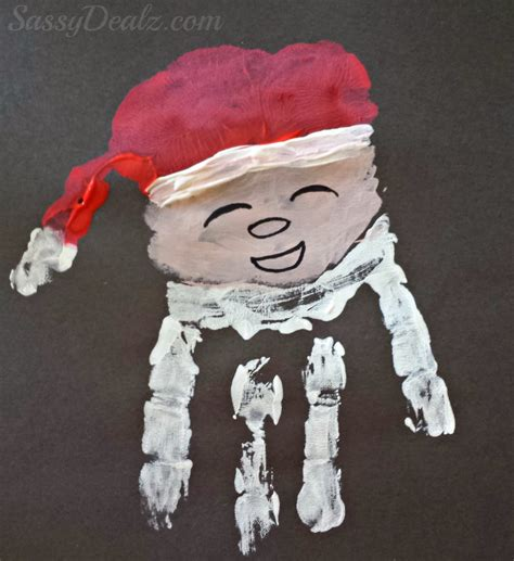 santa claus crafts santa claus handprint craft for crafty