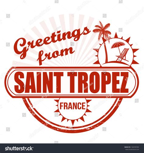 rubber st text generator grunge rubber st with text greetings from tropez