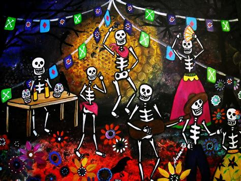 mexican painting festival day of the dead festival by pristine cartera turkus