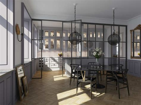 kitchen partition wall designs glass partition between kitchen dining area 3d