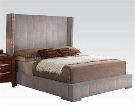 velvet bedroom furniture bedroom by acme w gray velvet bed optional items