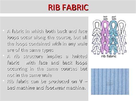 rib knit structure knitting technology
